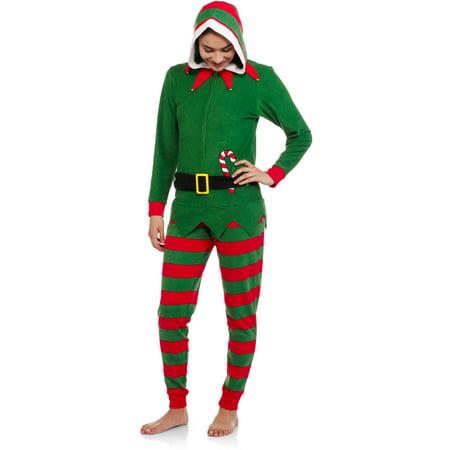 elf womens licensed sleepwear adult onesie costume union suit pajama - Elf Christmas Pajamas