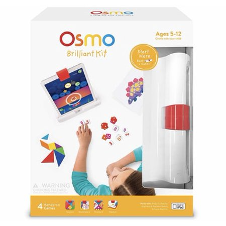 Olmo Leather (Osmo Brilliant Kit for Ipad- 4 Hands on Games- Tangram, Numbers, Newton and Masterpiece -Base Included )
