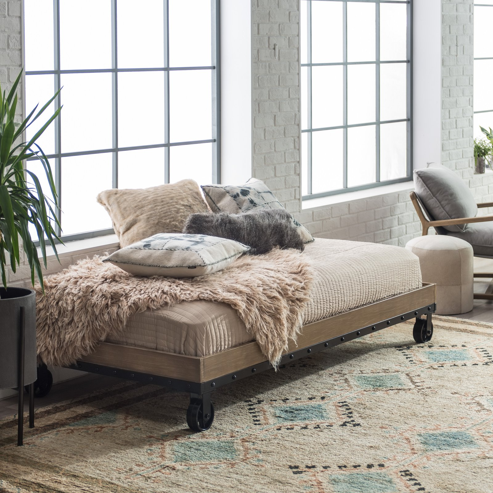 Belham Living Merced Daybed - Washed Gray