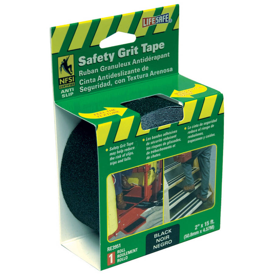 "Incom RE3951 2"" x 15' Black Gator Grip Anti Slip Safety Grit Tape"