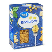 (4 pack) Great Value Radiatore Macaroni, 16 oz