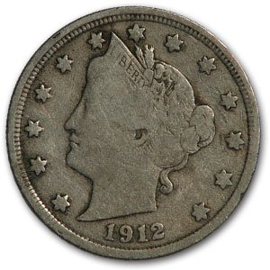 1912 Liberty Head V Nickel Fine