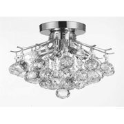 Gallery T40-388 French Empire 4-Light Crystal Semi-Flush with Clear Crystals