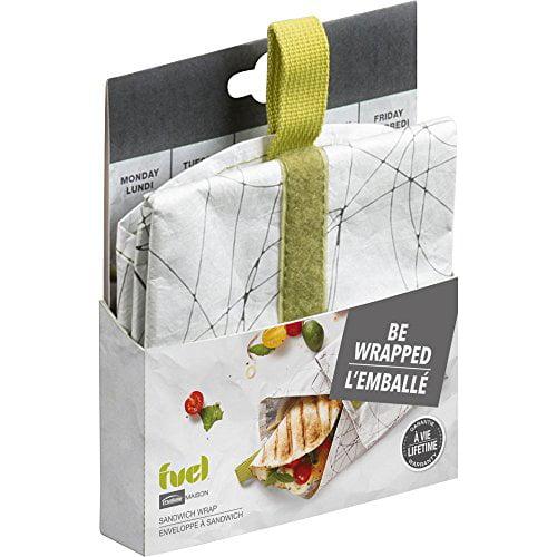 Trudeau Corporation 37808288 Green Sandwich Wrap Bag by Trudeau