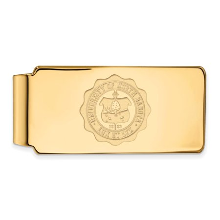 North Dakota Money Clip Crest (14k Yellow Gold)
