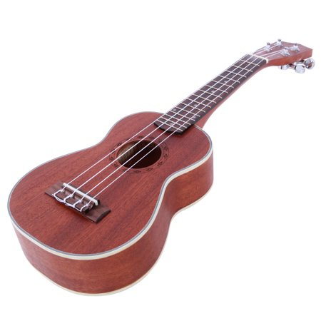 "Glarry New 21"" Soprano Concert Ukelele Sapele Wood Body for Beginner Student Professionals, Coffee, Diamond Pattern - image 2 of 7"