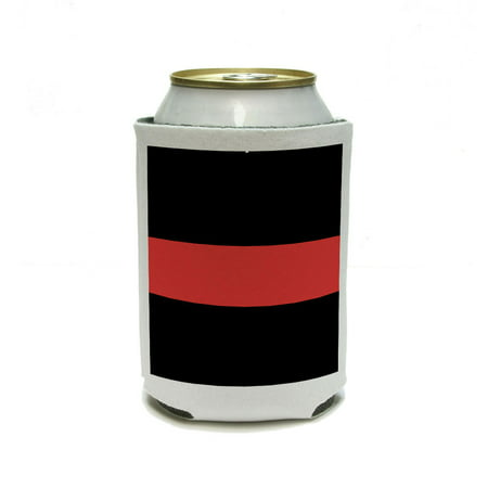 Thin Red Line - Fireman Firemen Firefighter Retirement Can Cooler Drink Insulator Beverage Insulated