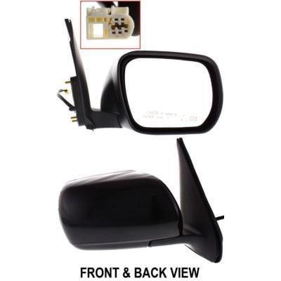 kool vue sz16er mirror corner mount type passenger side rh plastic primered power manual folding