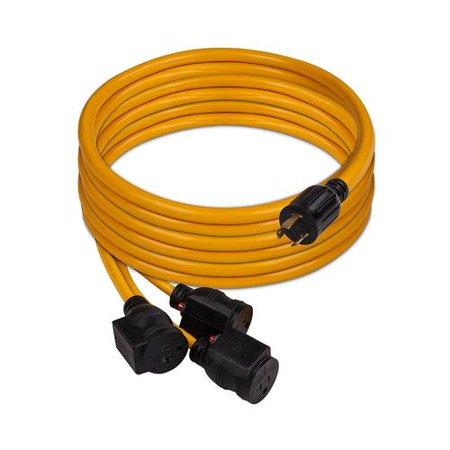 Firman 1105 30 Amp Generator Power Cord (L5-30P to 3x5-20R) (Shore Power Cord 30 Amp)