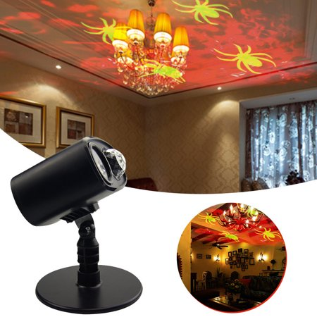 Waterproof moving spider projector lights led moving for 57in led lighted peacock outdoor christmas decoration