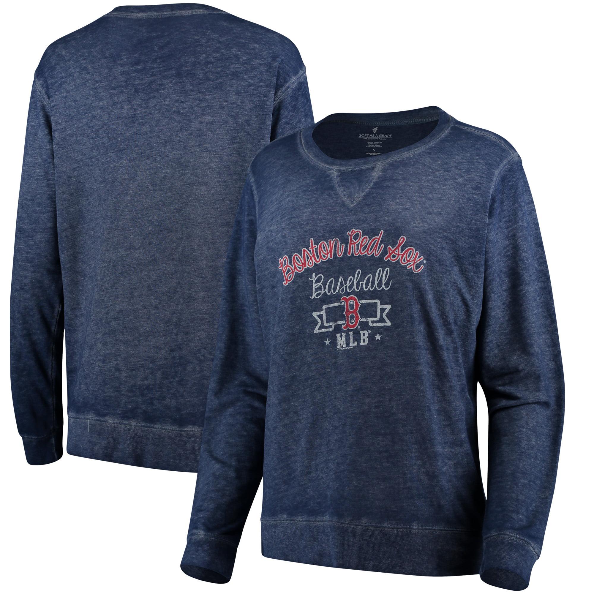 Boston Red Sox Soft as a Grape Women's Home Run Swing Sweatshirt - Navy