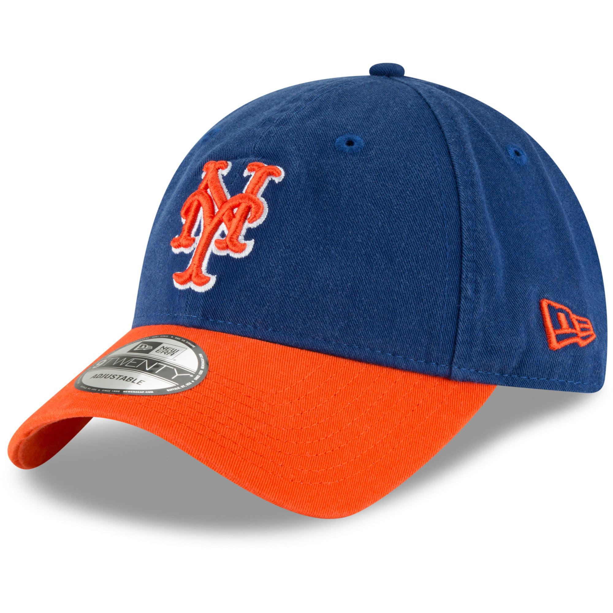 New York Mets New Era Core Classic Secondary 9TWENTY Adjustable Hat - Royal/Orange - OSFA