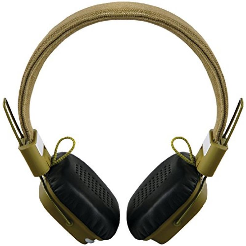 Outdoor Tech OT1400 Privates - Wireless Bluetooth Headphones with Touch Control (Army Green)