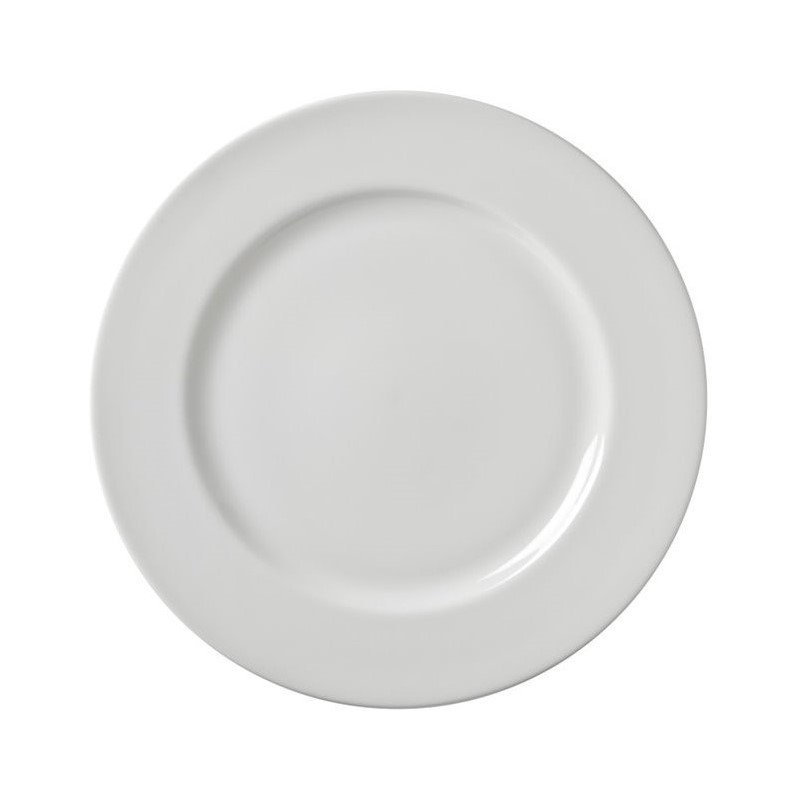 10 Strawberry Street Z-Ware White Porcelain Dinner Plate (Set of 6) by 10 Strawberry Street