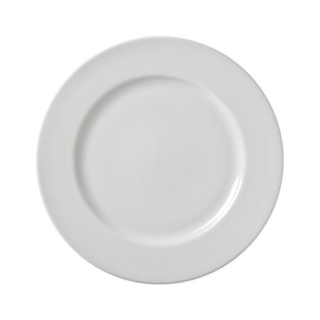10 Strawberry Street Z-Ware White Porcelain Dinner Plate (Set of 6) (Porcelain Plates)