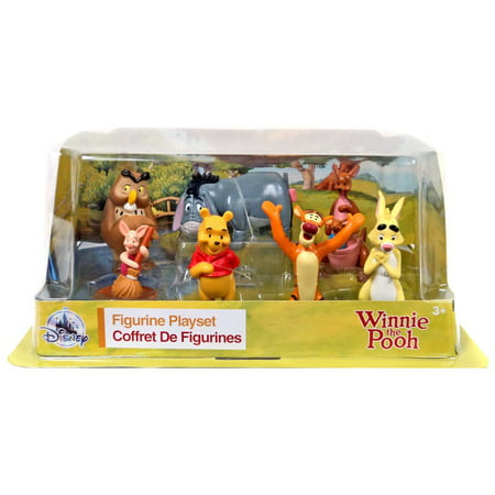 Disney Winnie the Pooh 7 Piece PVC Figure Playset (Winnie The Pooh Animated Christmas Display Figure)