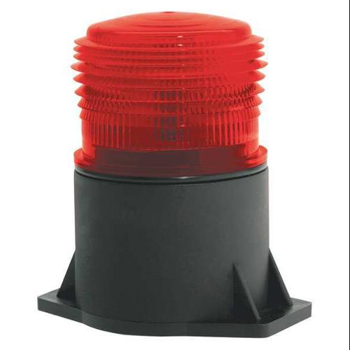 JW SPEAKER 539 Strobe Light,LED,Red,Flange Mount G0095341