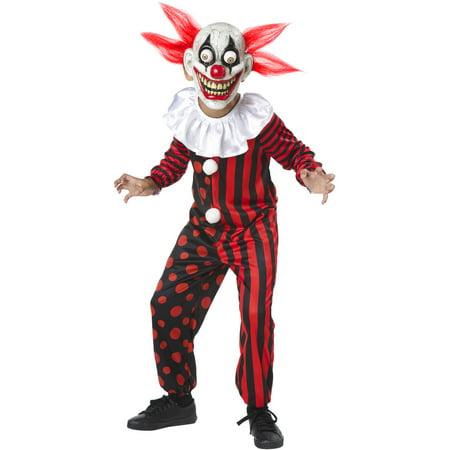 Googley Clown Child Halloween Costume Large