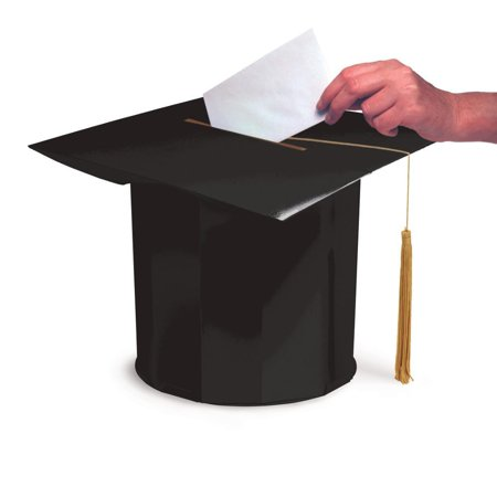 Graduation Cap Card Box (Creative Converting Mortarboard Shaped Graduation Card)