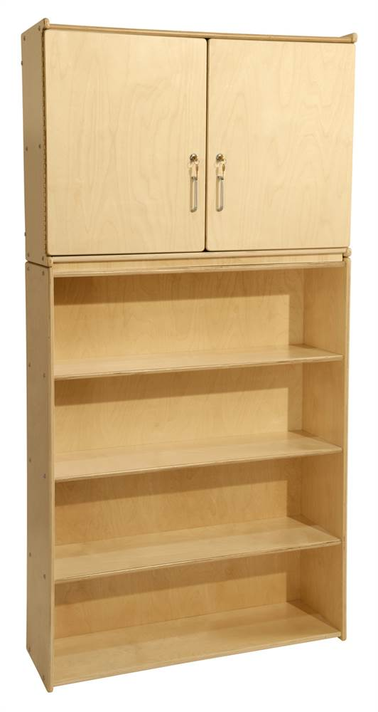 Contender 4-Shelf Wooden Storage and Cabinet