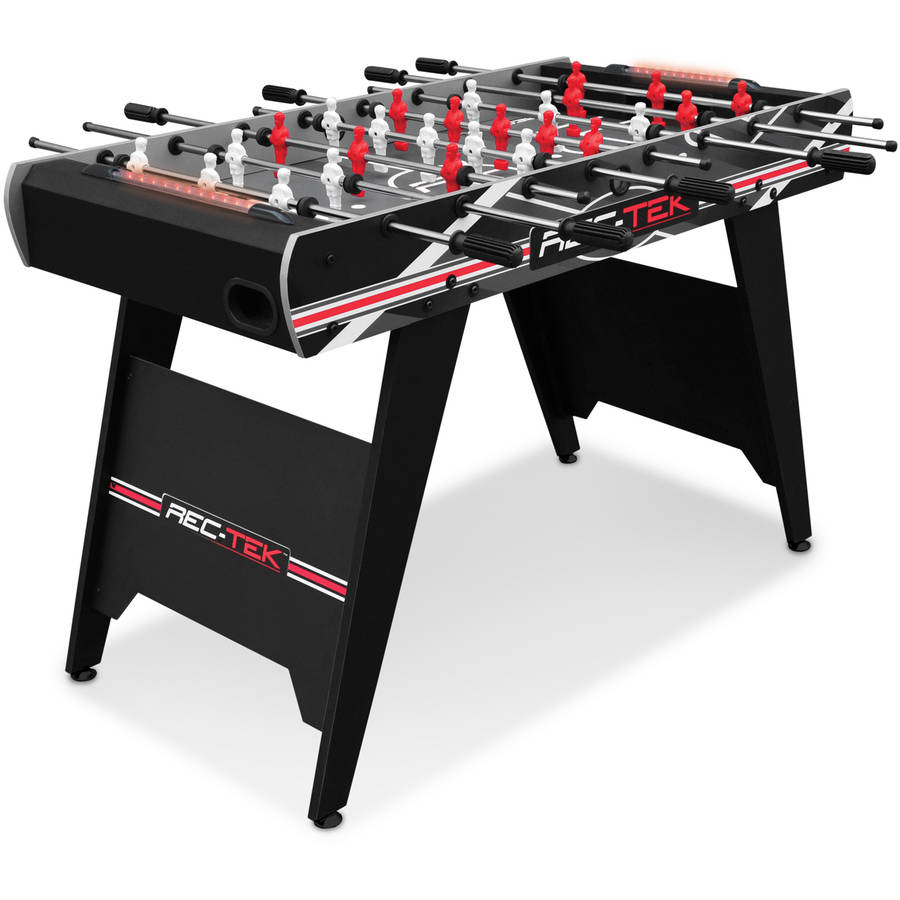 Rec Tek 4u0027 Foosball Table Soccer With Automatic Light Up Scoring