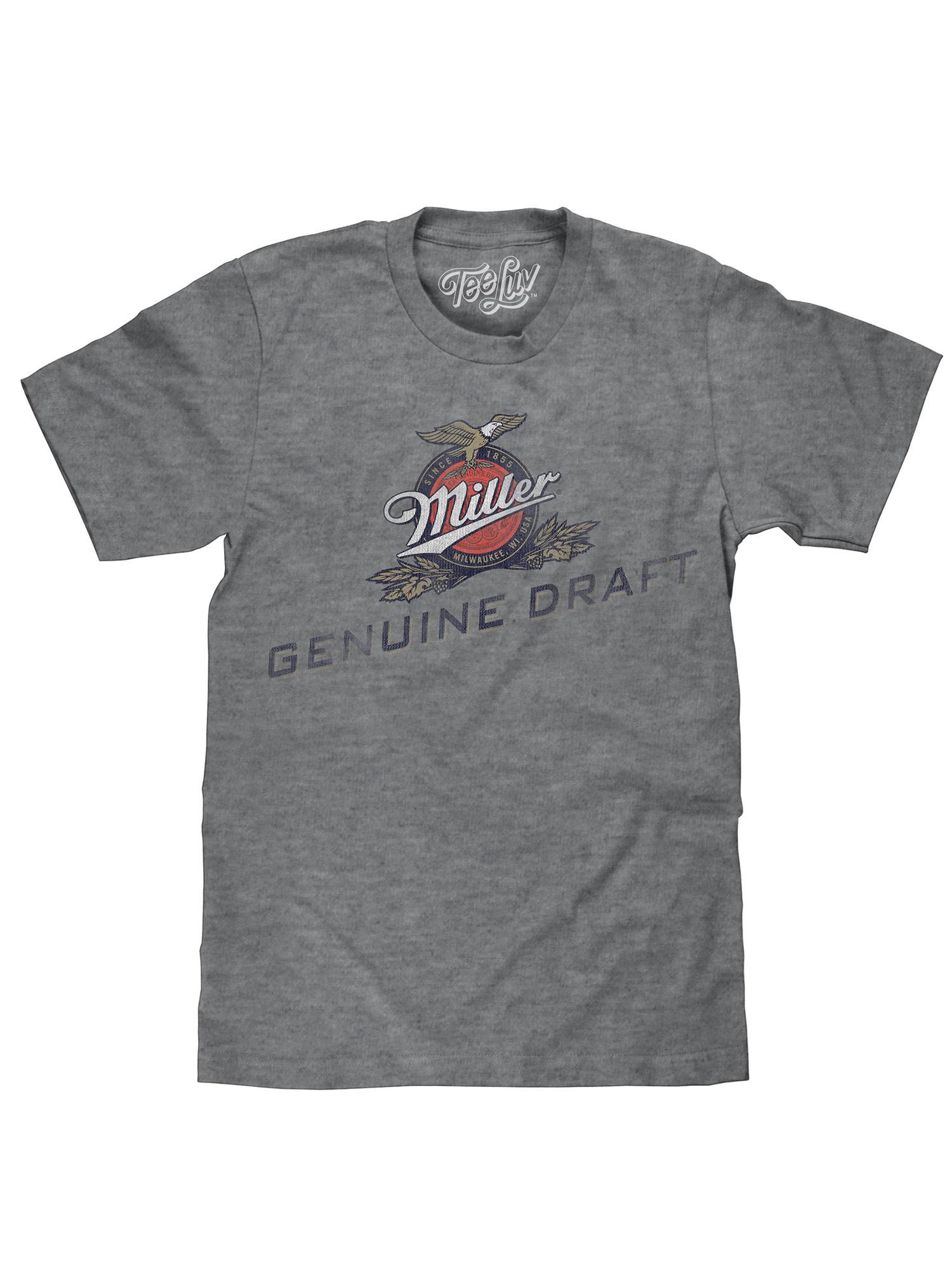 MILLER GENUINE DRAFT lite Basketball  Beer T Shirt tee baseball fishing new XL