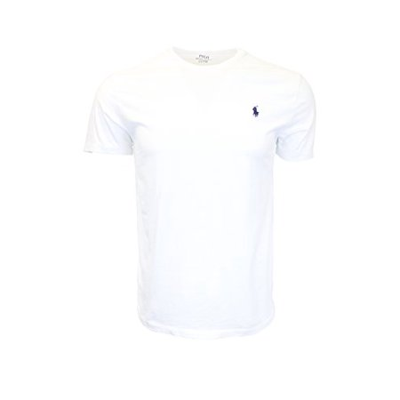 Polo Ralph Lauren Mens Crew Neck T-shirt (Medium, White)