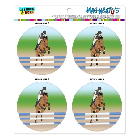 Horse Show Jumping MAG-NEATO'S(TM) Car/Refrigerator Magnet (Best Show Jumping Horse Breeds)