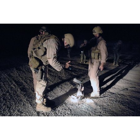 Battalion Distinctive Unit (LAMINATED POSTER Sailors attached to Explosive Ordnance Disposal Mobile Unit (EODMU) 11, Company 9, Battalion 13, ins Poster Print 24 x 36 )