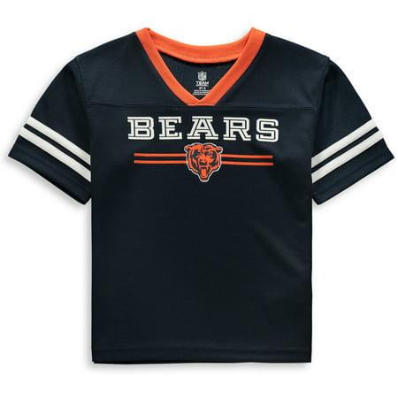 Toddler Navy Chicago Bears Mesh Jersey V-Neck T-Shirt