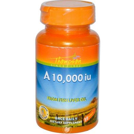 Retinyl Acetate (Thompson Nutritional Products Vitamin A Retinyl Palmitate 10,000 IU 30 Softgel, Pack of 2)