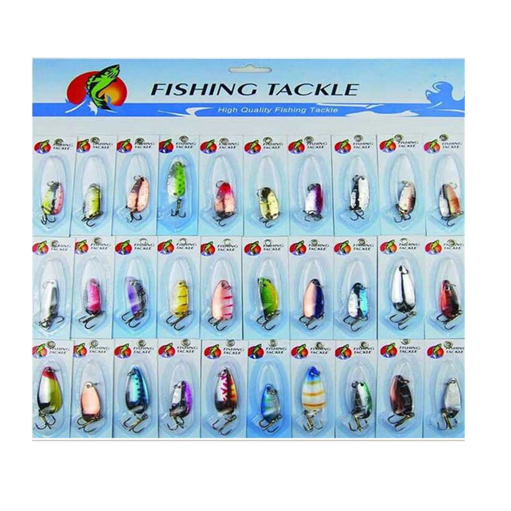30 pcs Kinds of Fishing Lures Crankbait Minnow Poper Bass Baits Hooks Tackle by GlowSol