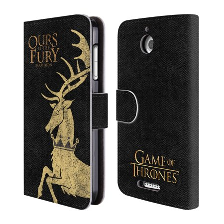 Official Hbo Game Of Thrones House Mottos Leather Book Wallet Case Cover For Htc Phones 1