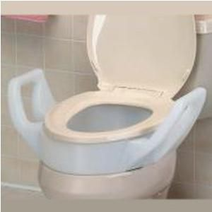 Wondrous Bath Safe Elevated Toilet Seat With Arms 3 1 2 H 26 X 22 X 8 1 4 300 Lb 1 Count Uwap Interior Chair Design Uwaporg