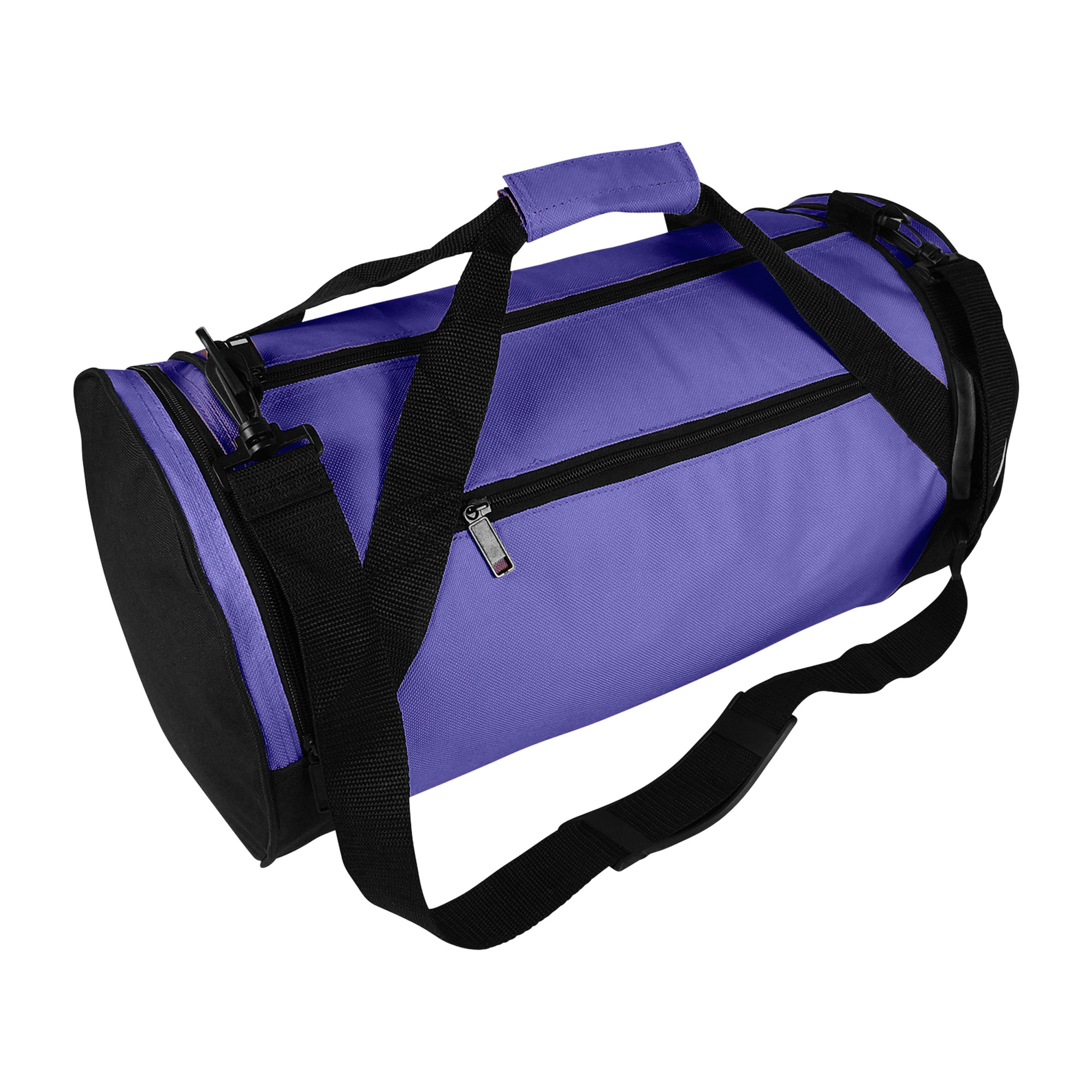 "DALIX 18"" Round Duffle Bag Flexible Roll Gym Traveling Bag in Black"