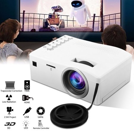 UNIC Home 1080p Mini LED Video Movie Game Projector Compact Pocket Projector Home Theater Cinema Built in SPEAKER USB/TF/AV For Sound Bar/ TV (Best Led Projector For Gaming)