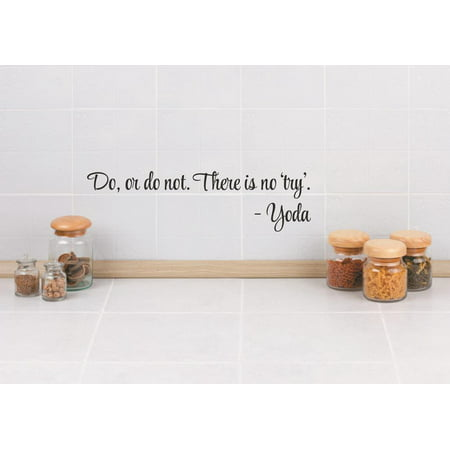 Vinyl Wall Decal Sticker   Do  Or Do Not  There Is Not Try    Yoda Life Quote 6X30 Inches