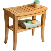 Bamboo Shower Stool Bench, Non slip Spa Chair Seat for Indoor or Outdoor Use by Bambusi