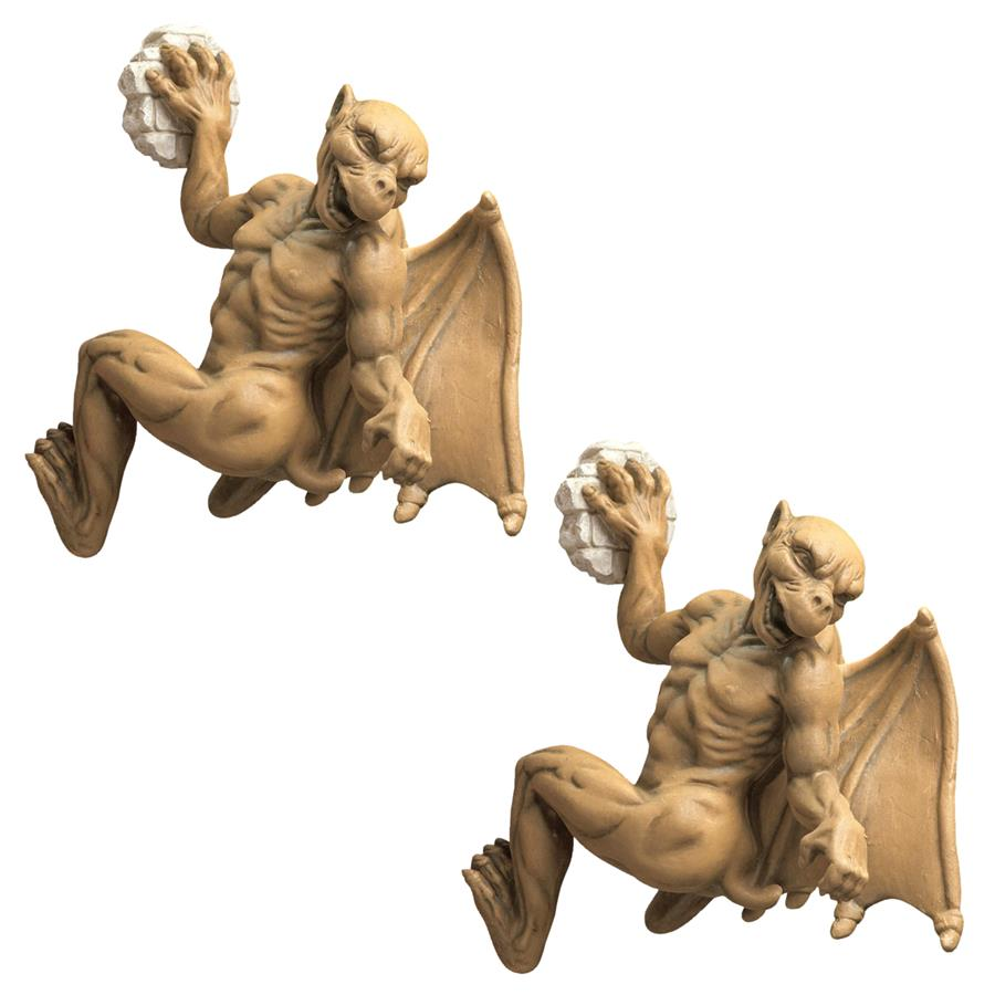 Gaston, the Gothic Gargoyle Computer Climber - Set of Two
