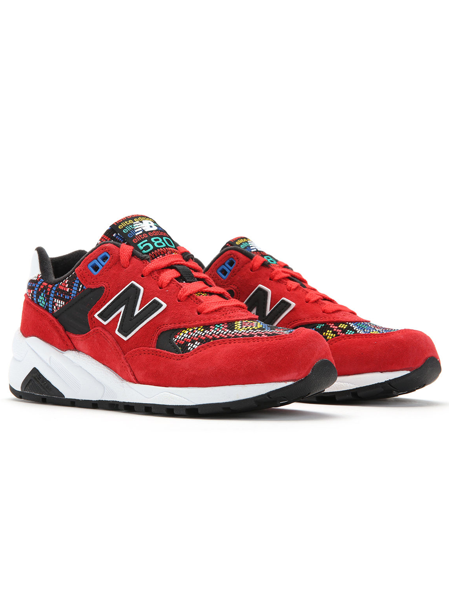 New Balance Women's 580 Aztec Running Shoes WRT580HS Red/Black SZ 5