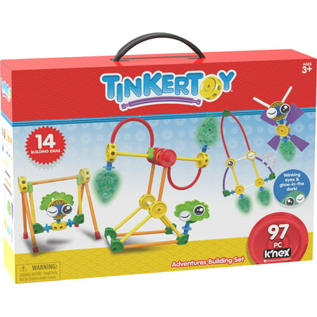 TINKERTOY Adventures Building Set - 97 Parts - Ages 3 and up - Creative Preschool Toy