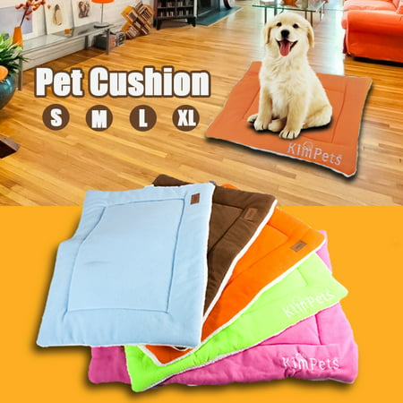 Pet Dog Puppy Cat Bed Cushion Mat Pad Kennel Crate Cozy Warm Sleep Mat Soft House S M L XL - Dog Crate Cushions