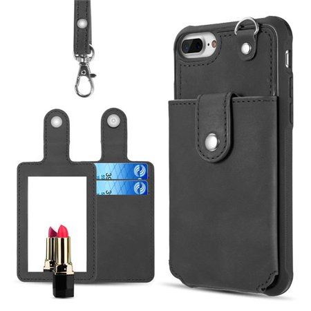 competitive price dfeab 9ce3d Dream Wireless CSIP8L-INO-BK In & Out Leather Wallet Case with Detachable  Card Holders for iPhone 6, 7 & 8 Plus - Black
