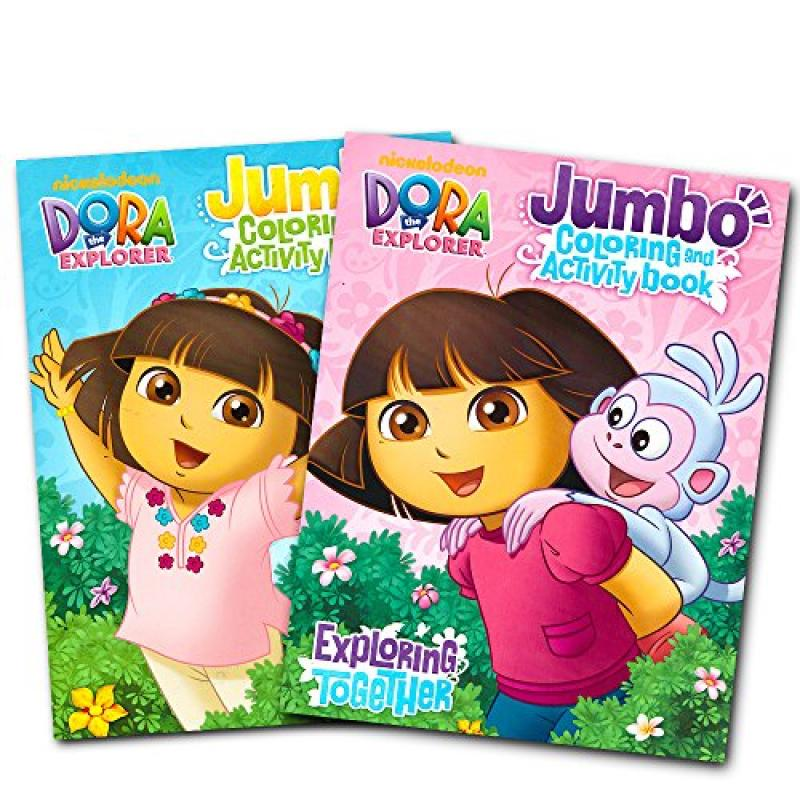 Dora the Explorer Coloring Book Set (2 Coloring Books) by
