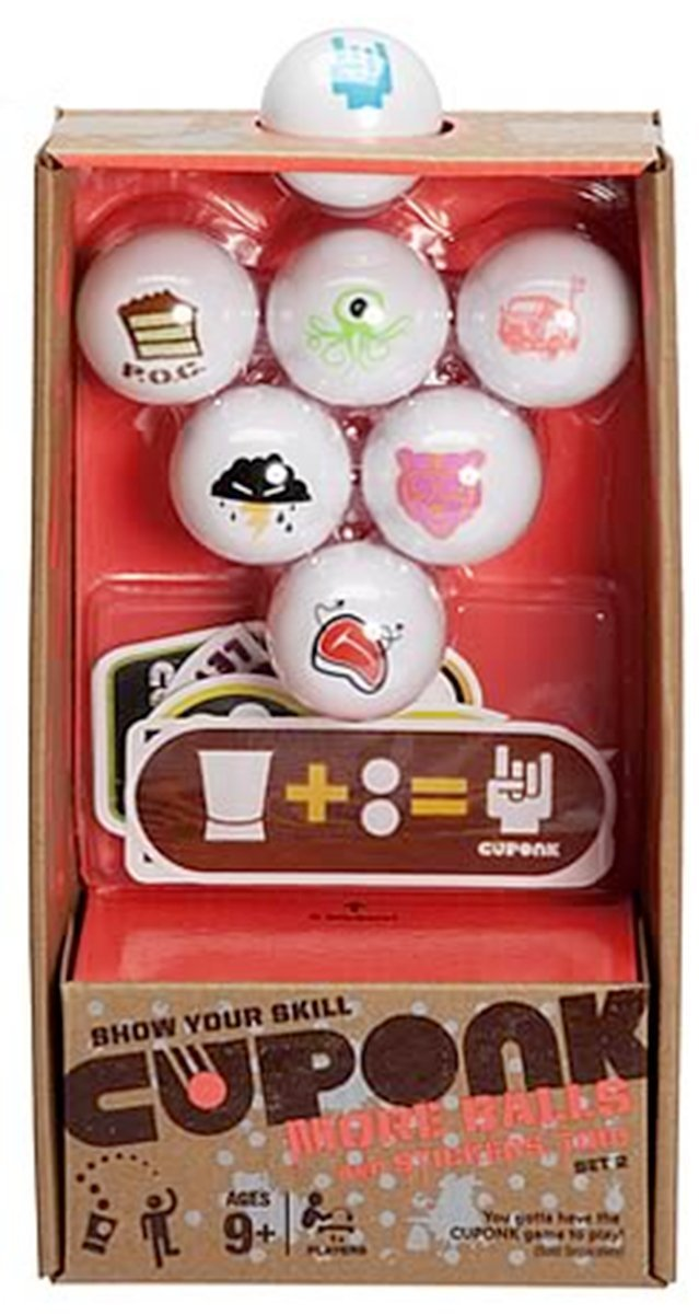 Cuponk! Cuponk 7 Extra Ping Pong Balls Expansion Pack Set 2, More balls await you in the... by
