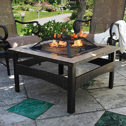 Better Homes and Gardens 32'' Square Tile Fire Pit