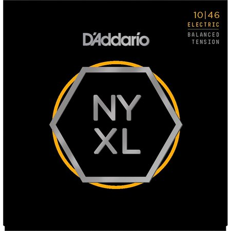 Pure Nickel Electric Strings - D'Addario NYXL1046BT Balanced Tension Nickel Wound Electric Guitar Strings (10-46)