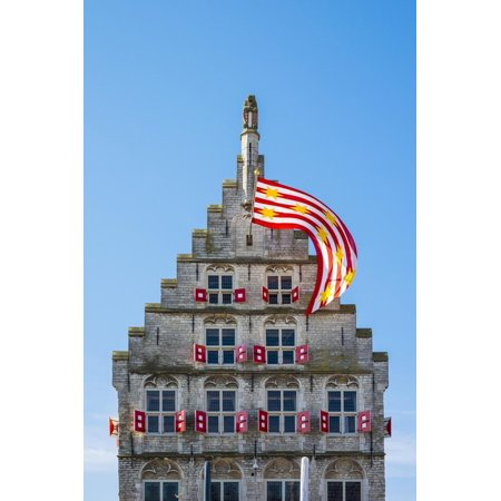 Netherlands, South Holland, Gouda. Rear side of Stadhuis Gouda city hall on Markt square. Print Wall Art By Jason