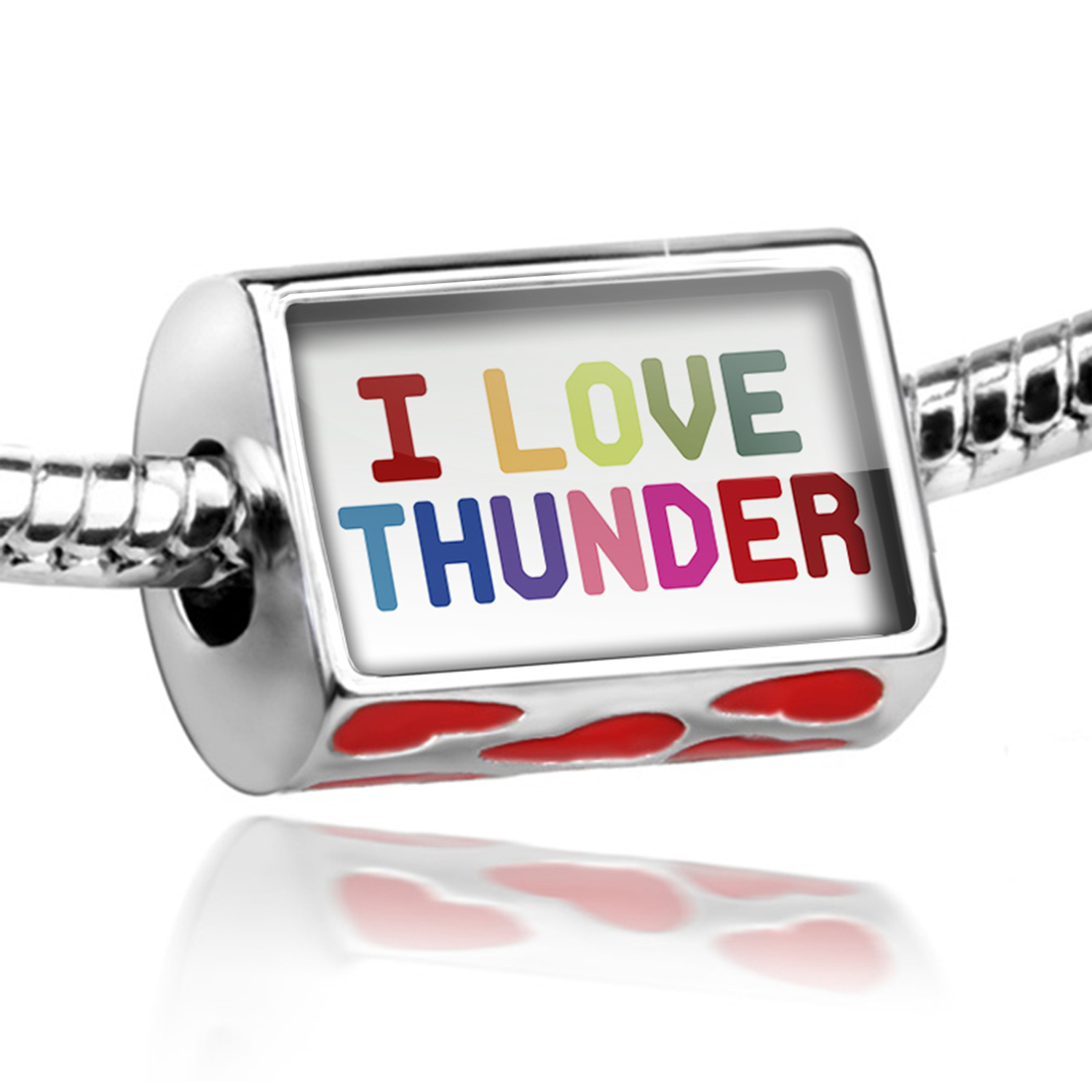 Bead I Love Thunder,Colorful Charm Fits All European Bracelets
