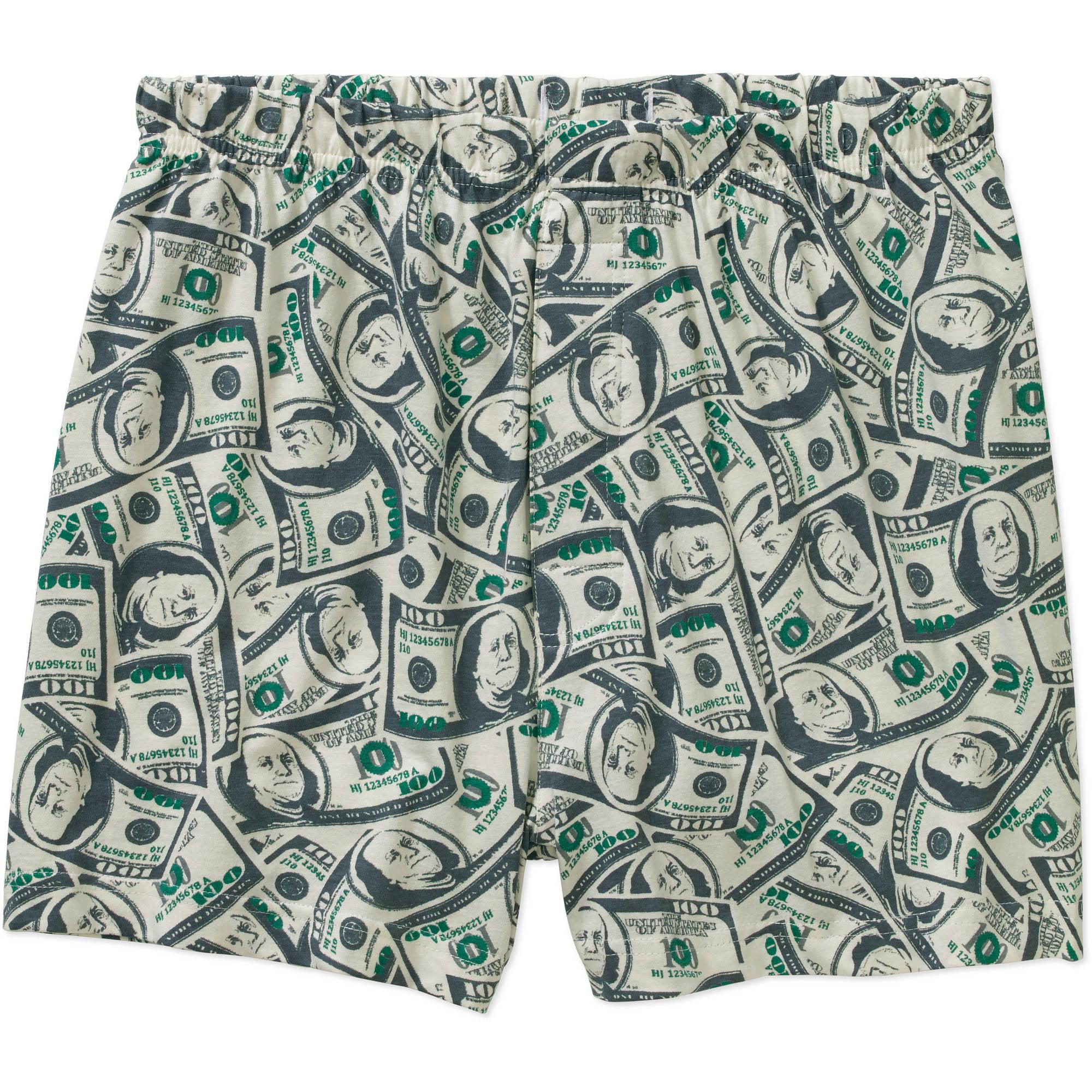 Money Print Men's Cotton Jersey Boxer 7EU0002BWM